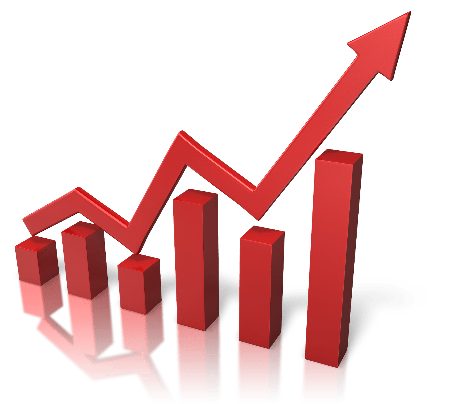 Growth graph png. Red transparent stickpng download