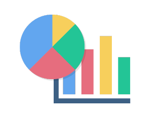 Graph transparent data. Charts in r by
