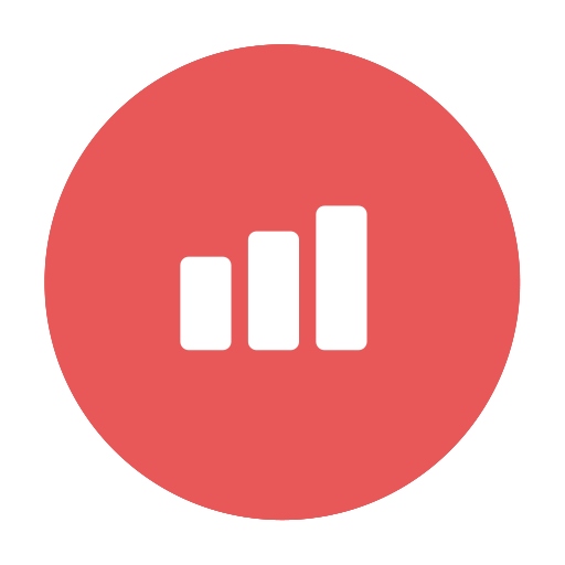 Success transparent red. Icons for free chart