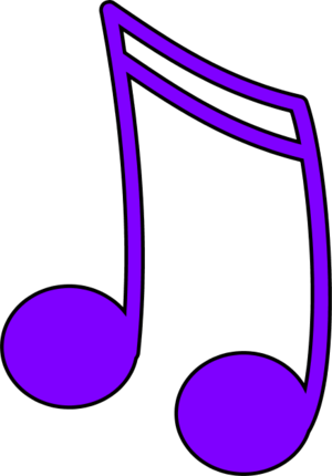Graphic arts colourful music notes png. Purple note clipart panda