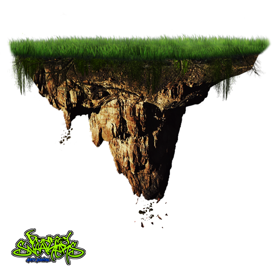 Land vector soil. Floating island png by
