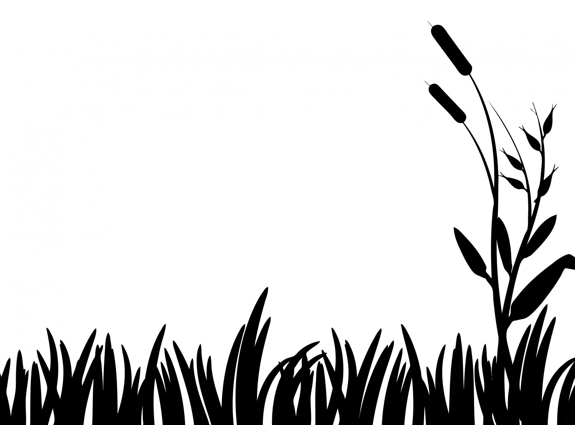 Grass clipart easy. Simple silhouette at getdrawings