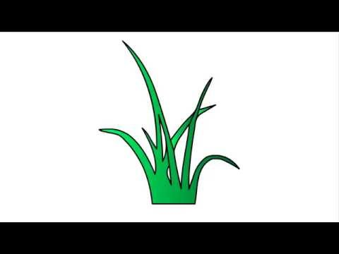 Grass clipart easy. How to draw
