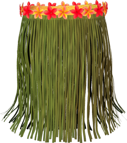 Grass skirt png. Green by clipartcotttage on