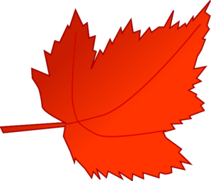 Leaf clipart. Red leaves