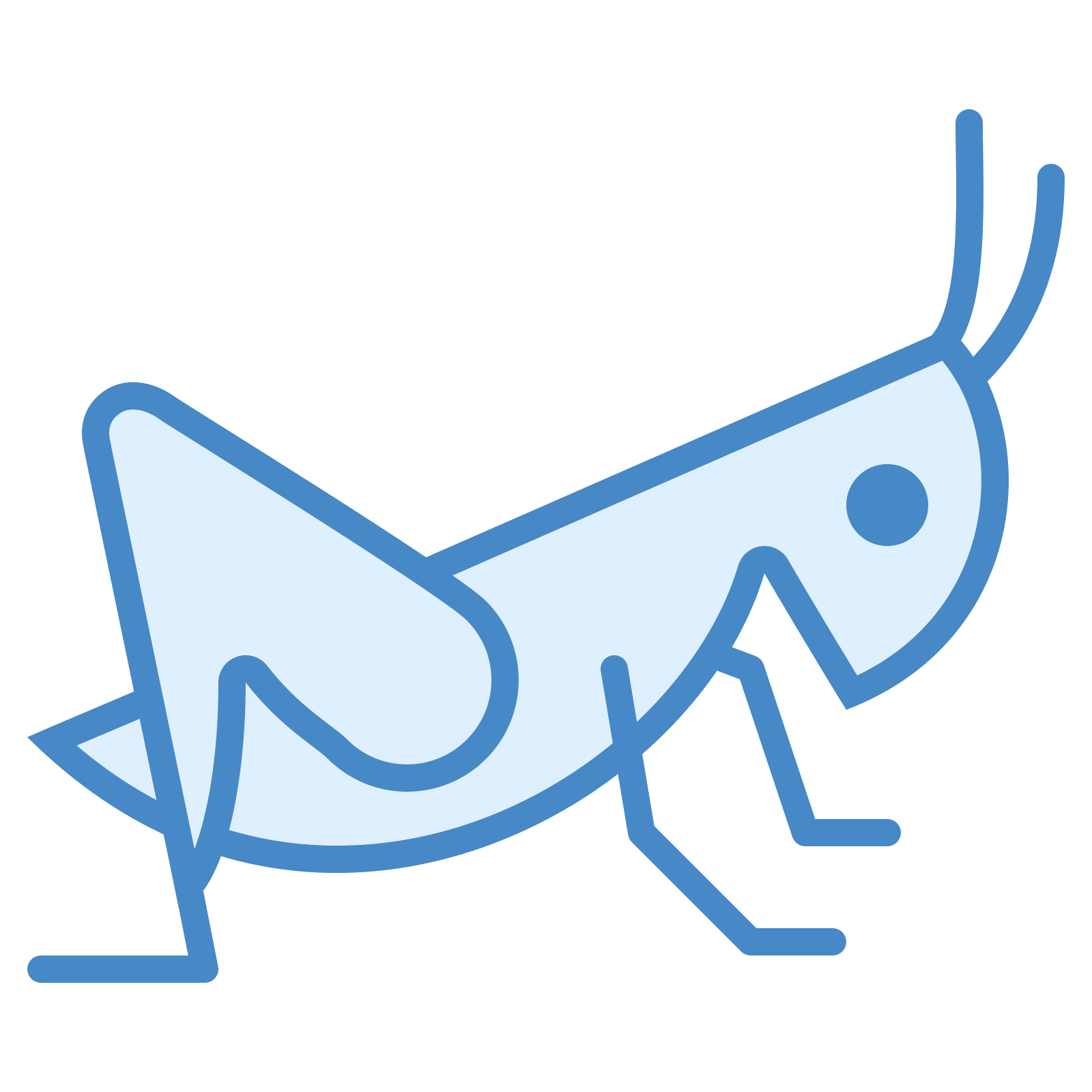 Grasshopper vector line. Icon free download png