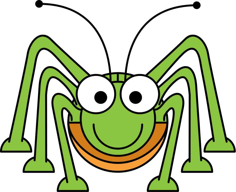 Grasshopper vector ant. Free to use public