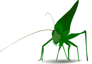 Grasshopper vector mantis. Emeza clip art at