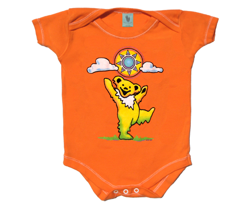 Grateful dead dancing bear png. Onesie baby clothes sunny
