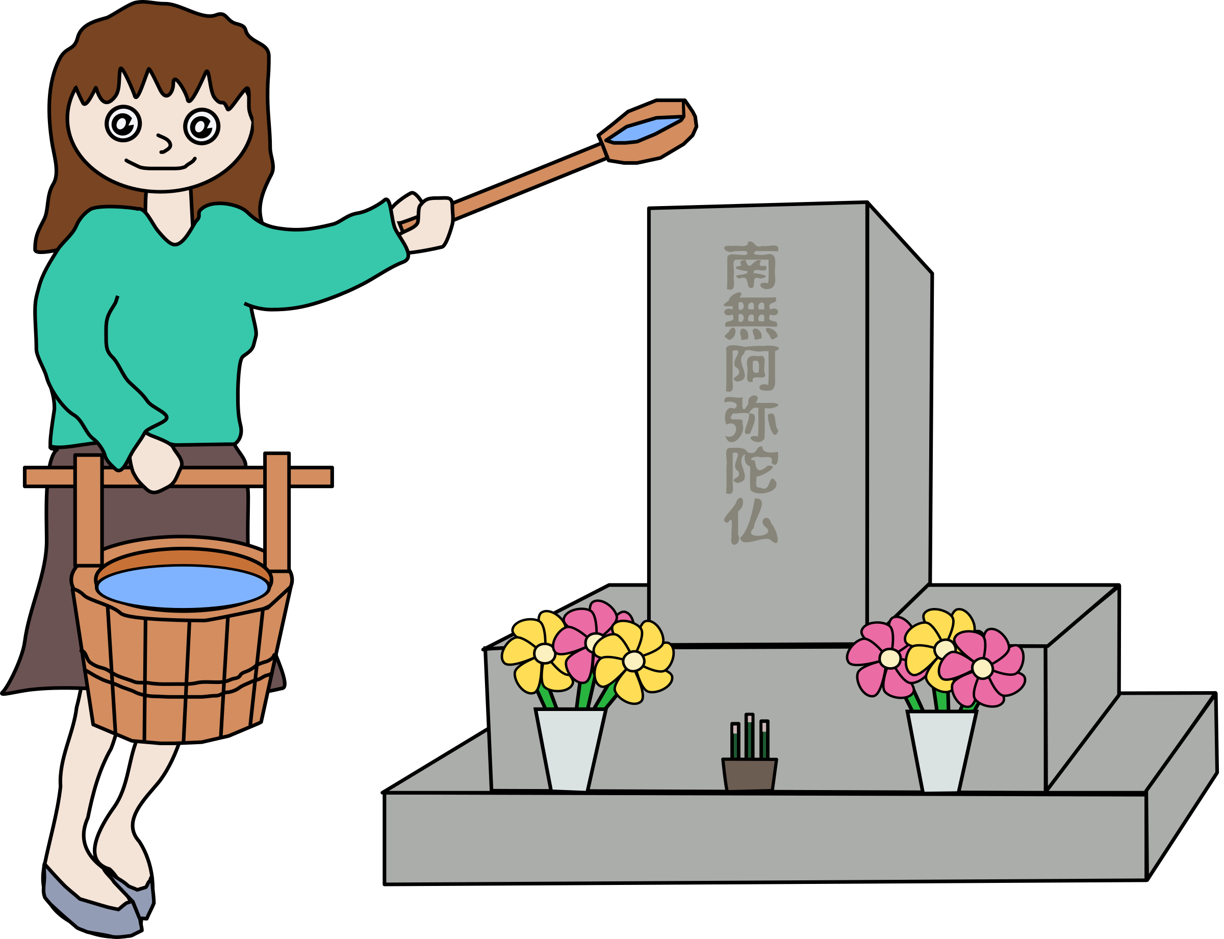 Cemetery clipart obon. Gravestone tomb pencil and