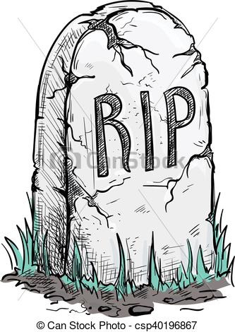Grave clipart tomb. Pencil and in color