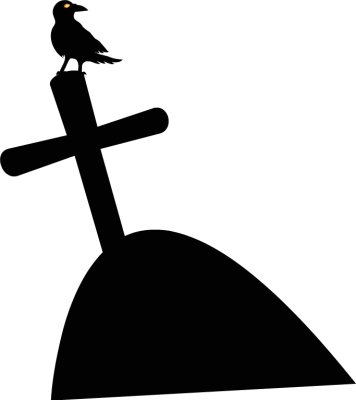 Tombstone clipart cross top. Free tomb cliparts silhouette