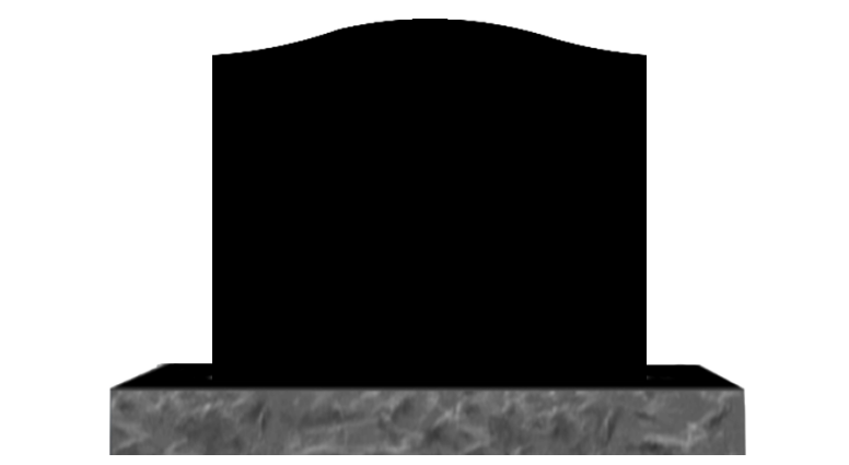 Gravestone clipart design. Single black granite designs