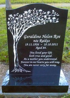 Gravestone clipart design. Schumann custom tree carving