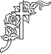 Gravestone clipart design. Engraved flower designs samples