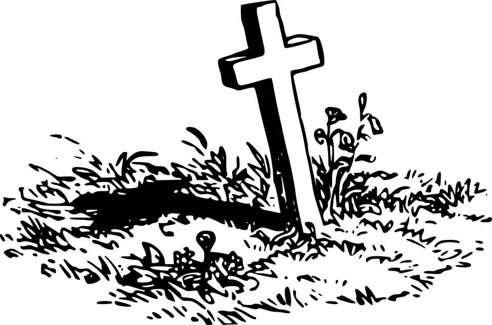 Gravestone clipart png. Grave with a cross