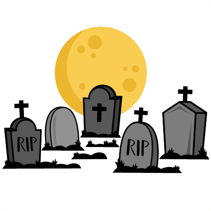 Graveyard clipart tomstone. Silhouette at getdrawings com