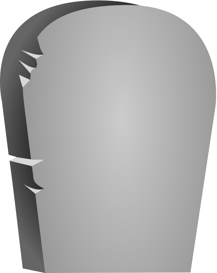 Transparent grave carton. Free tombstone vector download