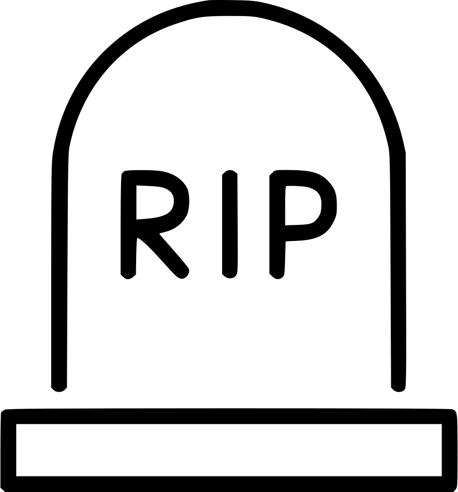 Rip tombstone png. Gravestone rest svg icon