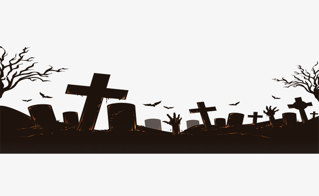 Graveyard clipart. Bat halloween cartoon hand image freeuse library