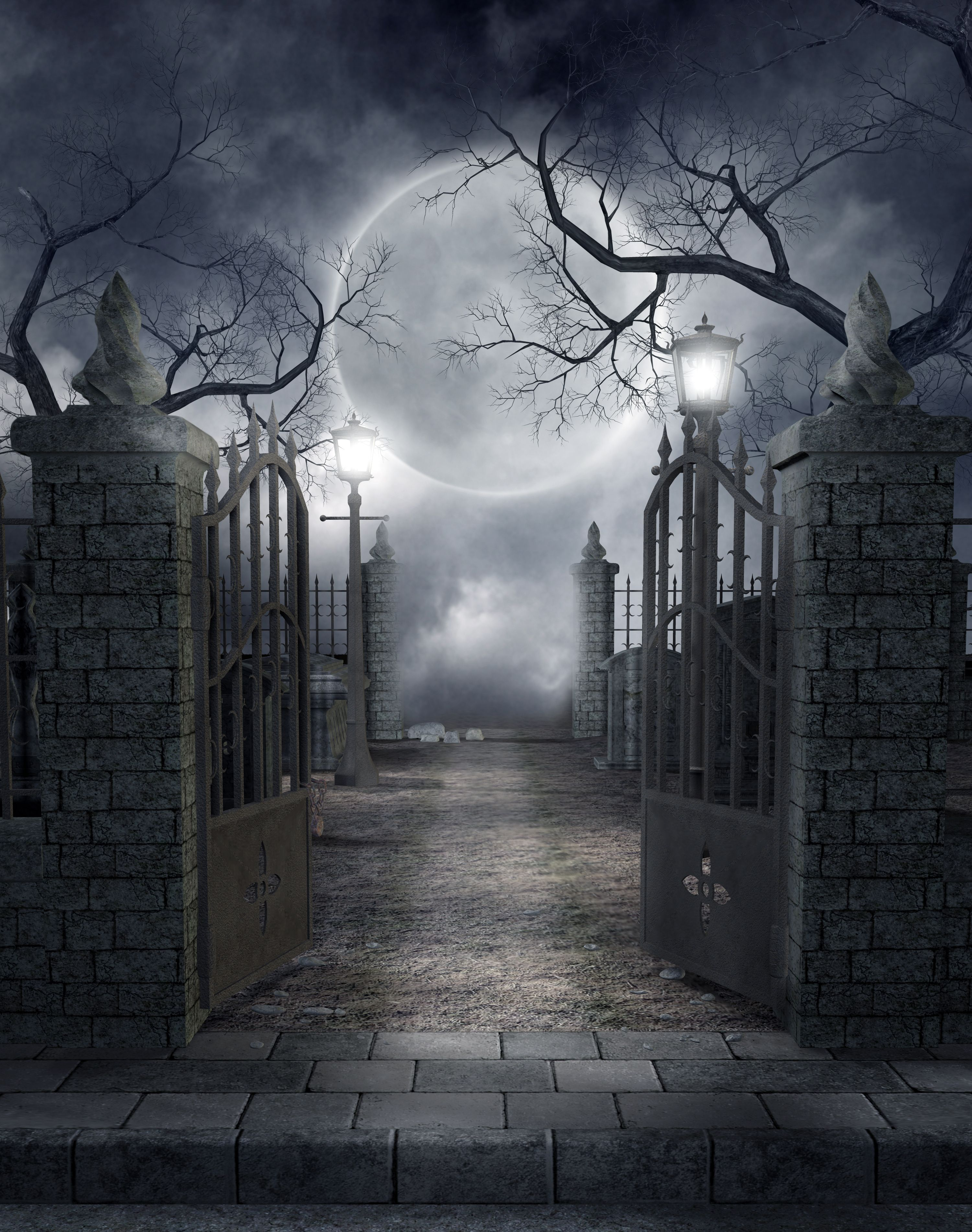 Graveyard clipart creepy graveyard. Cemetery to scary at