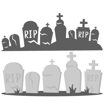 Scary clipart spooky cemetery. Free graveyard border cliparts