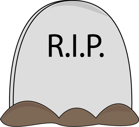 Rip clipart gravestone. Graveyard rest in peace