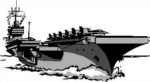 Aircraft carrier. Clipart station