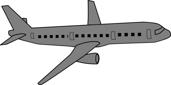 Gray plane. Grey airplane clipart