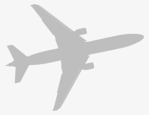 Gray plane. Airplane png transparent image