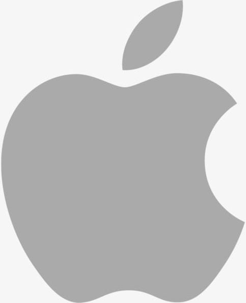 Gray apple. Logo png clipart