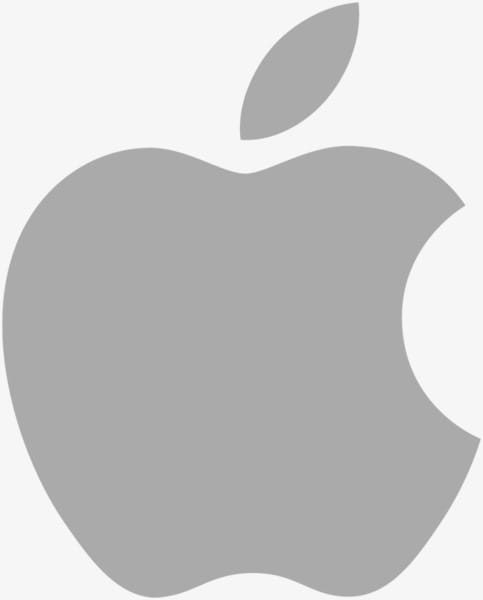 Gray apple. Logo png clipart free