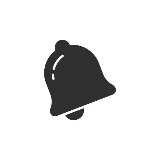 Gray bell png. Message twitter notification icon
