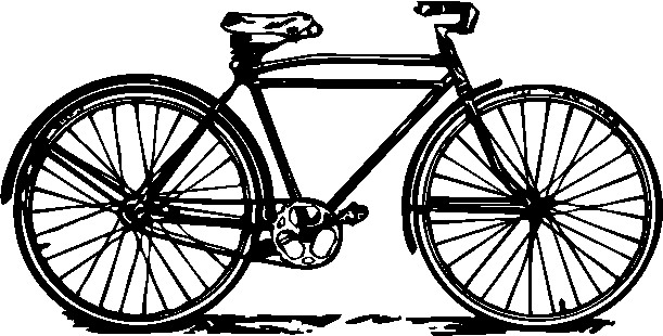 Gray bicycle. Free graphics download clip