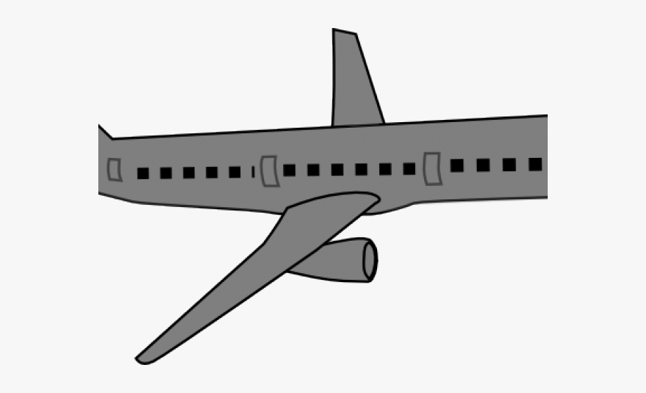 Gray boeing. Airplane clipart grey next