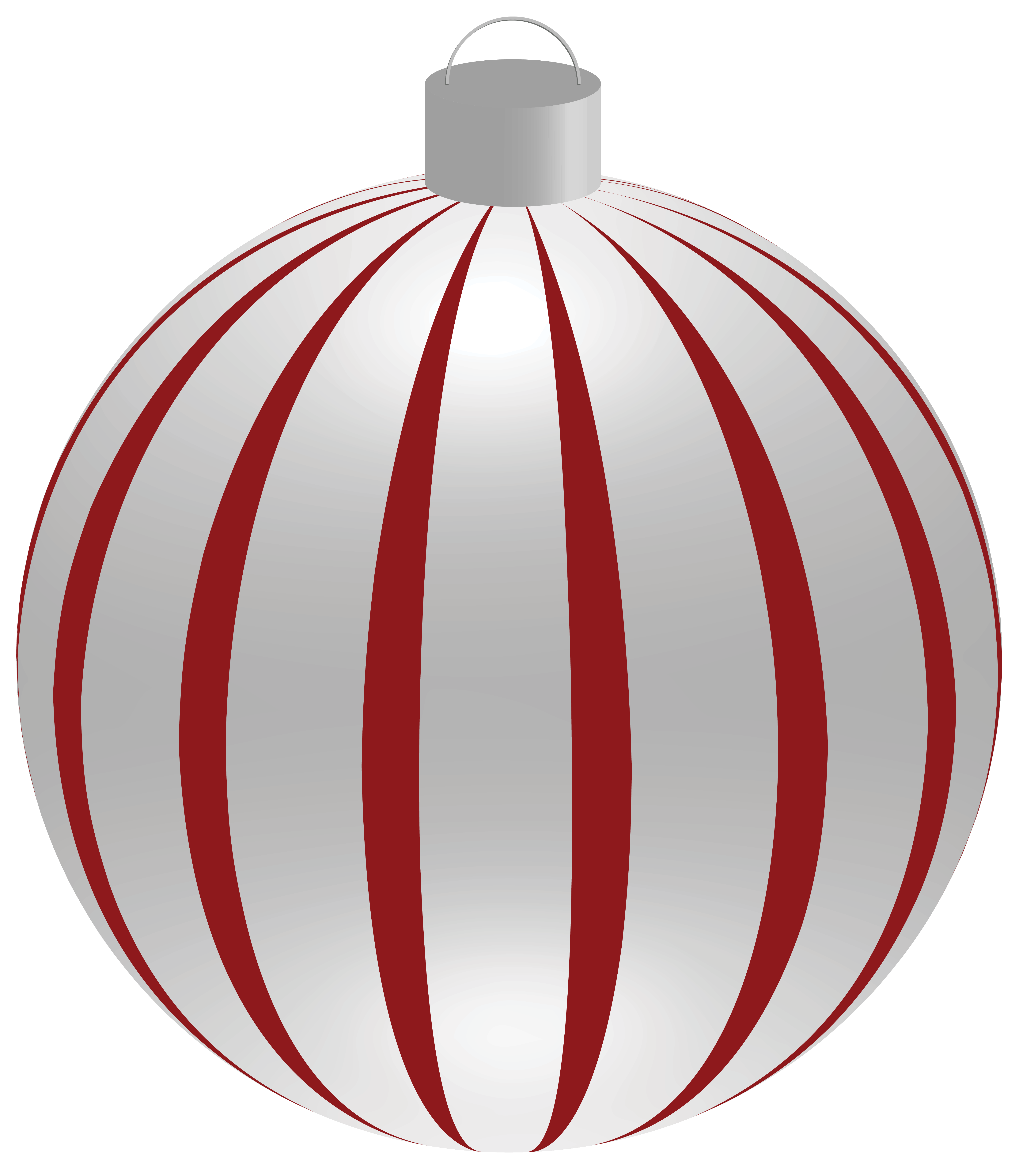 Gray christmas ornaments png. Striped ball with clipart