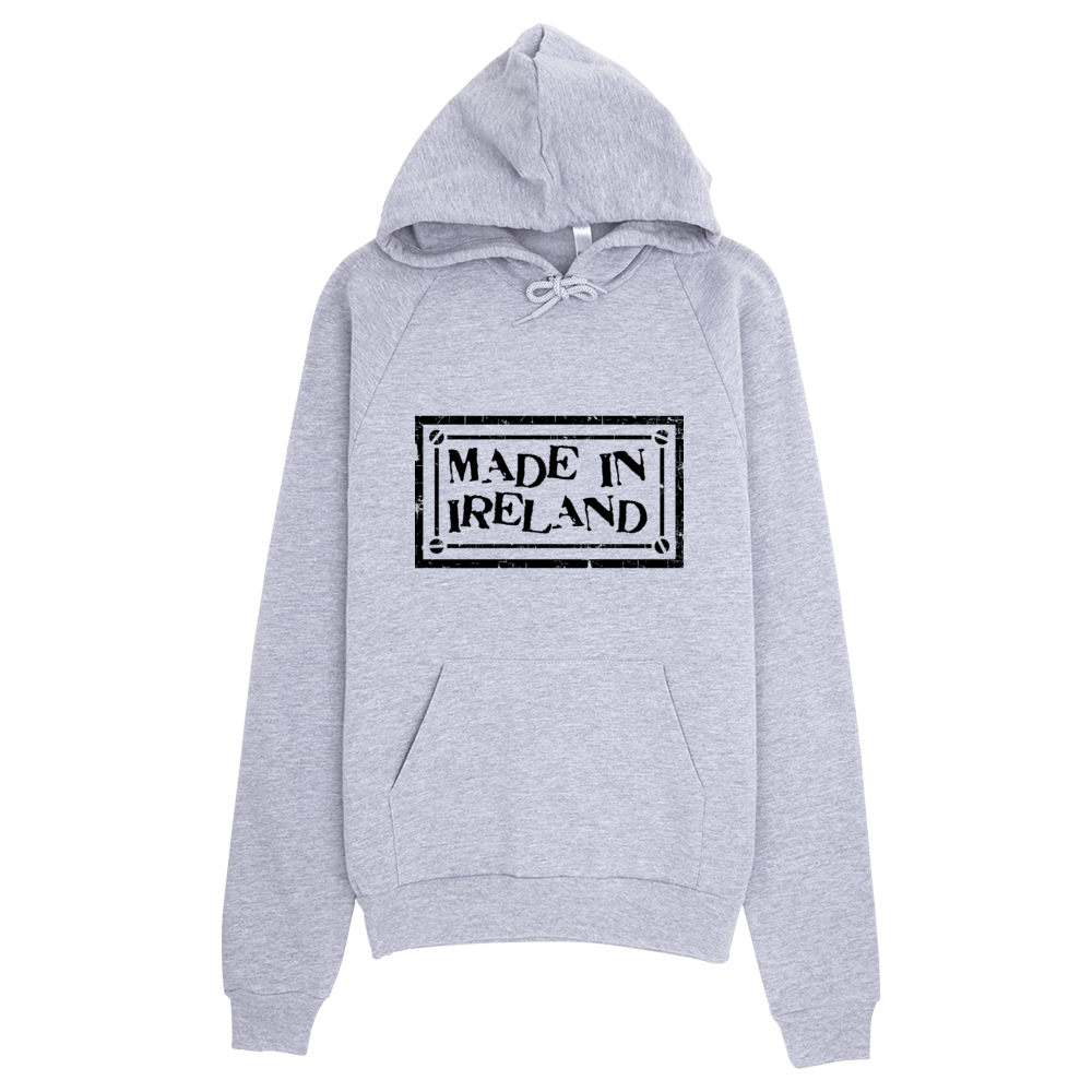 Gray hoodie png. Made in ireland s