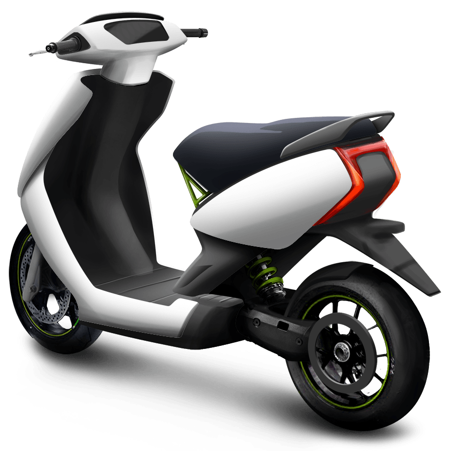 Gray moped