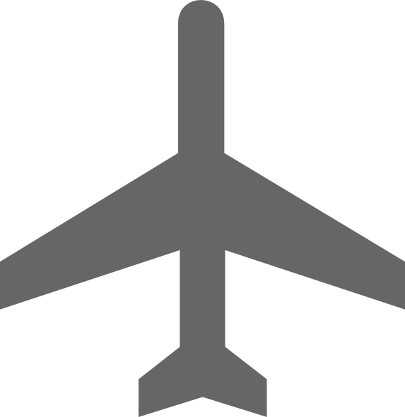 Gray plane. Clipart airplane grey transparent