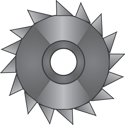 Gray saw blade clipart png. Image idle object shows