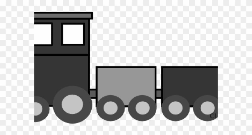 Gray train. Clipart transparent free for