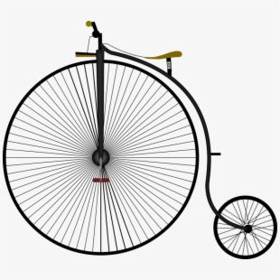 Gray velocipede. Penny farthing png free