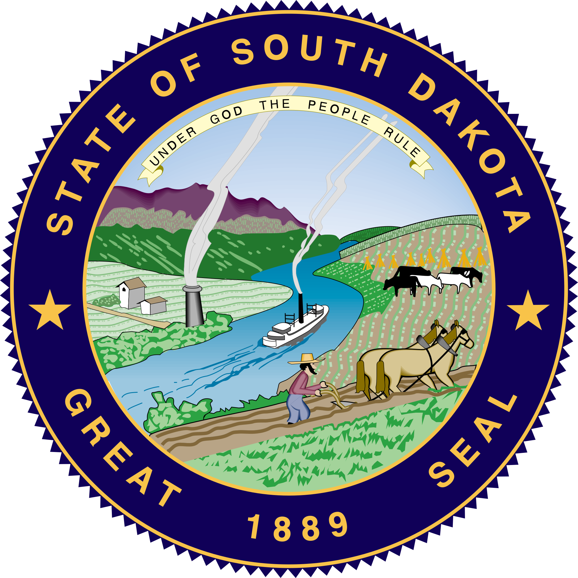Great seal of florida png. South dakota wikipedia the