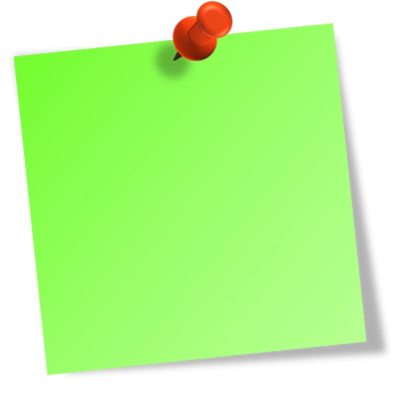 Greeb post it notes png. Free note download clip