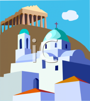 Royalty free image travel. Greece clipart picture black and white download