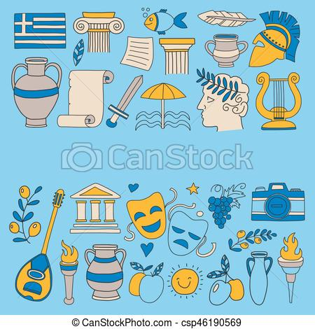 Ancient vector elements in. Greece clipart clip stock