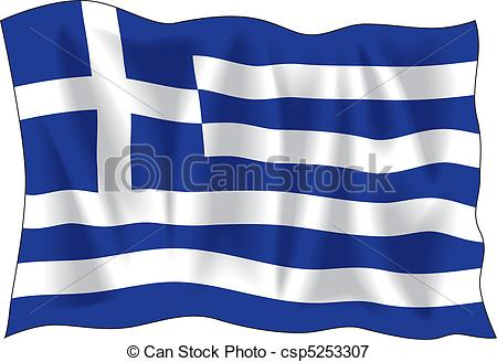 Greek flag waving of. Greece clipart black and white