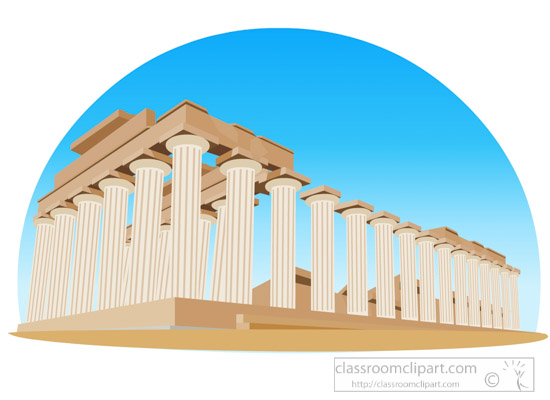 Ancient greek temple of. Greece clipart svg black and white library