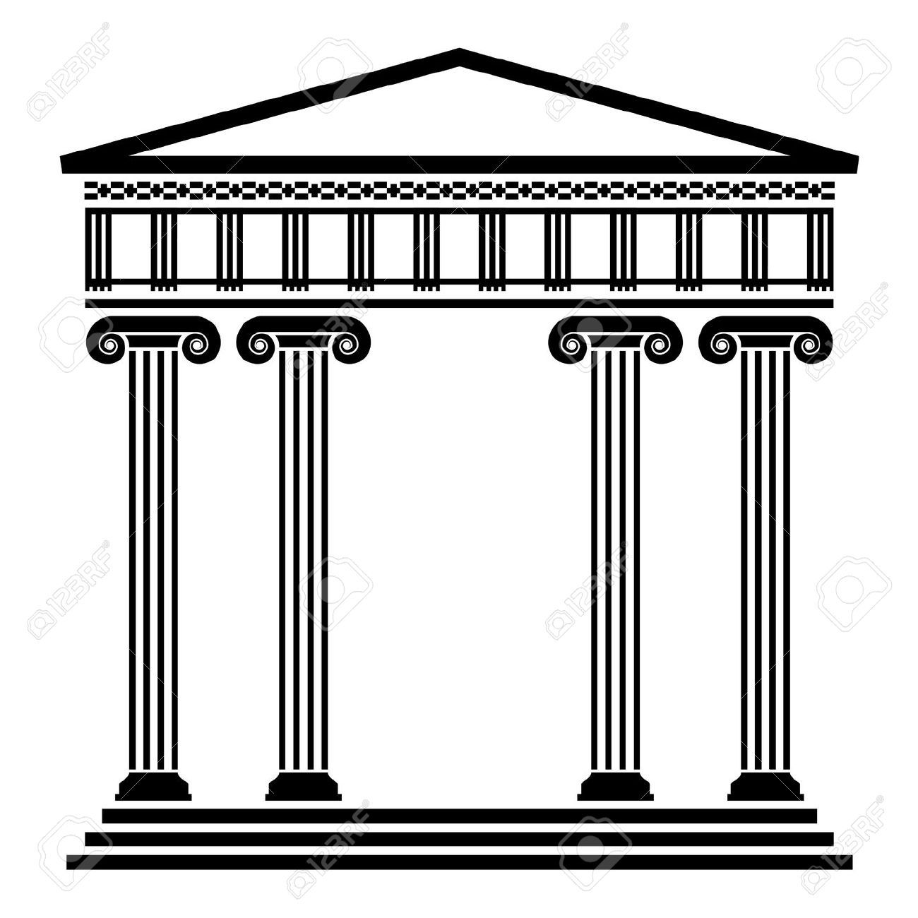 Rome clipart greek pillar. Vector ancient architecture with