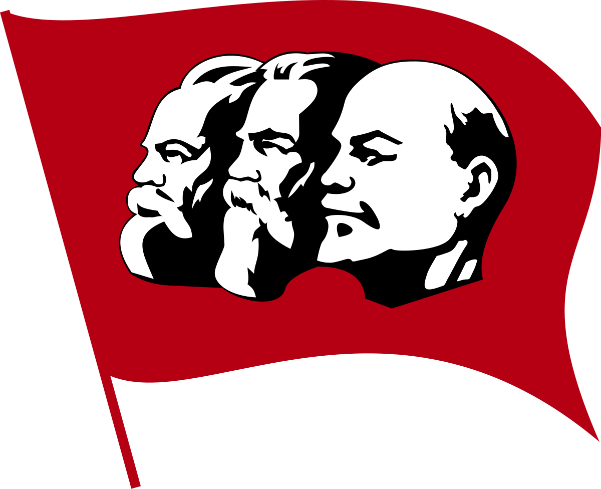 lenin drawing red
